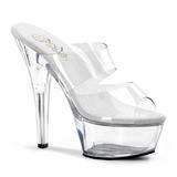 Transparent 15 cm KISS-202 Platform Mules Shoes