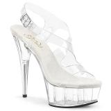 Transparent 15 cm Pleaser DELIGHT-630 Platform High Heels