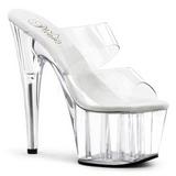 Transparent 18 cm ADORE-702 Platform Mules Shoes