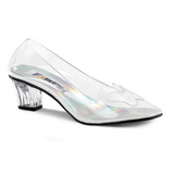 Transparent 5 cm CRYSTAL-103 High Heeled Evening Pumps Shoes