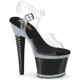 Transparent sandals platform 18 cm SPECTATOR-708RS pleaser high heels sandals