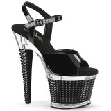 Transparent sandals platform 18 cm SPECTATOR-709 pleaser high heels sandals