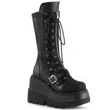 Vegan 11,5 cm SHAKER-71 demonia knee boots wedges platform