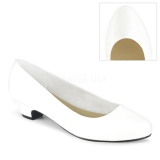 Vegan 3 cm GWEN-01 pumps for mens and drag queens in white