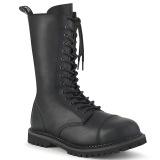 Vegan leather RIOT-14 demonia boots - unisex steel toe combat boots