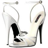 White 15 cm DOMINA-108 transvestite shoes