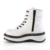 White Leatherette 3 cm LILITH-152 demonia ankle boots platform
