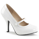 White Patent 11,5 cm PINUP-01 big size pumps shoes