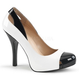 White Patent 12,5 cm EVE-07 big size pumps shoes