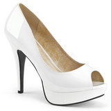 White Patent 13,5 cm CHLOE-01 big size pumps shoes