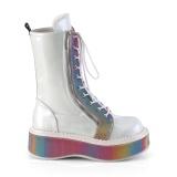 White Patent 5 cm EMILY-350 demonia ankle boots platform