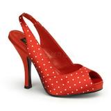 White Points 11,5 cm CUTIEPIE-03 Red Platform Pumps Shoes