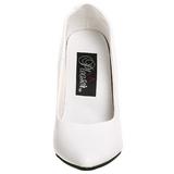 White Shiny 13 cm SEDUCE-420 Pumps High Heels for Men