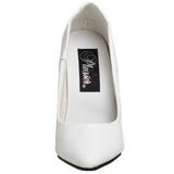 White Varnished 10 cm VANITY-420 pointed toe pumps high heels