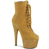 Yellow glitter 18 cm ADORE-1020FSMG Exotic pole dance ankle boots