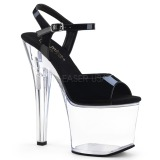 akryl 18 cm Pleaser RADIANT-709 platform høyhælte sko