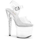 akryl 18 cm Pleaser UNICORN-708 platform høyhælte sko