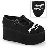 bat lerret 8 cm CLICK-04-2 lolita sko gothic platåsko tykke såler