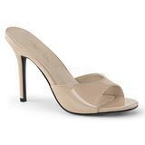 beige 10 cm CLASSIQUE-01 dame slip ins med hæler