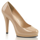 beige 11,5 cm FLAIR-480 høye damesko med hæl