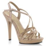 beige 13 cm Fabulicious LIP-113 dame sandaler med hæl