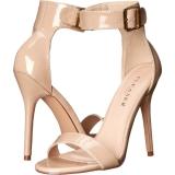 beige 13 cm Pleaser AMUSE-10 dame sandaler med hæl