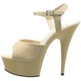 beige 15 cm Pleaser DELIGHT-609 høye hæler damer sko