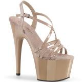 beige 18 cm ADORE-713 pleaser sandaler med stiletthæl