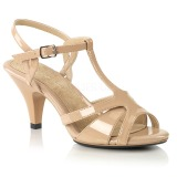 beige 8 cm BELLE-322 sko med høye hæler for menn