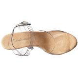 beige gjennomsiktig 13 cm LIP-108 plattform hæl sko