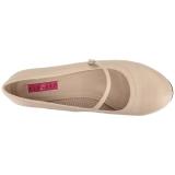 beige kunstlær 11,5 cm PINUP-01 store størrelser pumps sko