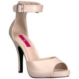 beige kunstlær 12,5 cm EVE-02 store størrelser sandaler dame