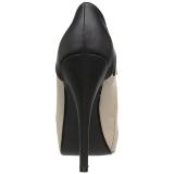 beige kunstlær 13,5 cm CHLOE-11 store størrelser pumps sko