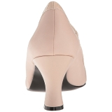 beige kunstlær 7,5 cm JENNA-06 store størrelser pumps sko
