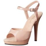 beige lakk 13 cm Fabulicious LIP-109 platå høye hæler sko