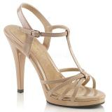 beige lakkert 12 cm FLAIR-420 dame sandaletter lavere hæl