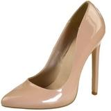 beige lakkert 13 cm SEXY-20 dame pumps sko flate hæl