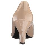 beige lakkert 8 cm DIVINE-420W dame pumps med lave hæl