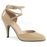 beige lakklær 10 cm DREAM-408 store størrelser pumps sko