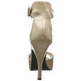 beige lakklær 12,5 cm EVE-02 store størrelser sandaler dame