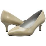 beige lakklær 6,5 cm KITTEN-01 store størrelser pumps sko