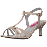 beige lakklær 6 cm KITTEN-06 store størrelser sandaler dame