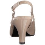 beige lakklær 7,5 cm DIVINE-418 store størrelser pumps sko
