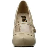 beige matt 12 cm CUTIEPIE-02 dame pumps sko flate hæl