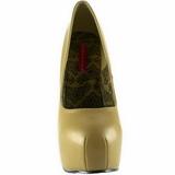 beige matt 14,5 cm BORDELLO TEEZE-06 platå pumps høy hæl