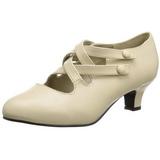 beige matt 5 cm DAME-02 dame pumps sko flate hæl