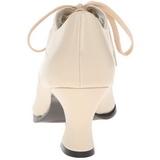 beige matt 7 cm retro vintage VICTORIAN-03 dame pumps med lave hæl