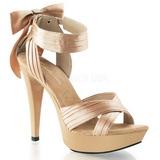 beige satin 13 cm COCKTAIL-568 høyhælte sandaler sko