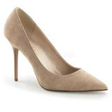 beige semsket 10 cm CLASSIQUE-20 dame pumps sko stiletthæl
