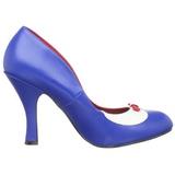 blå 10,5 cm SMITTEN-05 høye damesko med hæl